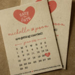 Calendar Magnet Save the Date, Rustic Style | Calendar Save the Date Magnet or Card with Envelopes Included | Set of 5 Save the Dates