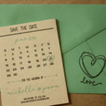 Calendar Magnet Save the Date, Rustic Style   Calendar Save the Date Magnet or Card with Envelopes Included   Set of 5 Save the Dates