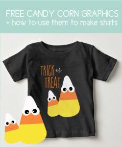 candy corn shirt with trick or treat