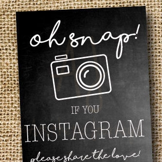 Chalkboard Instagram Sign For the Wedding