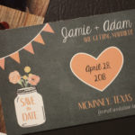 Chalkboard Mason Jar Magnet Save the Date | Save the Date Magnet or Card with Envelopes Included | Set of 5 Save the Dates