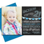 Chalkboard Party Invitation with Envelopes | Printed Birthday Invites with Envelopes | Custom Colors Available