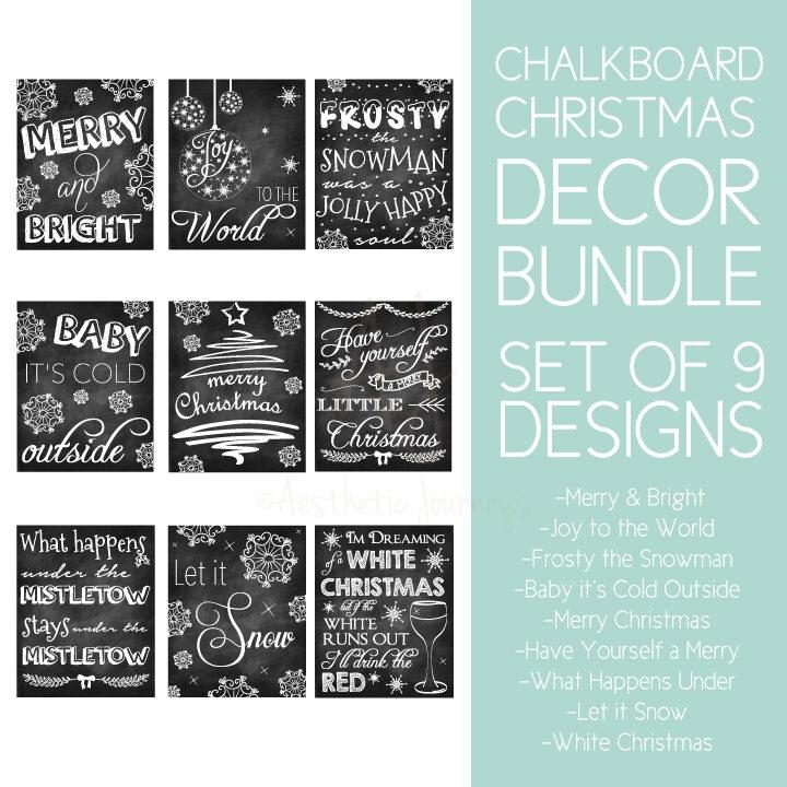 christmas.chalkboard.sign.bundle