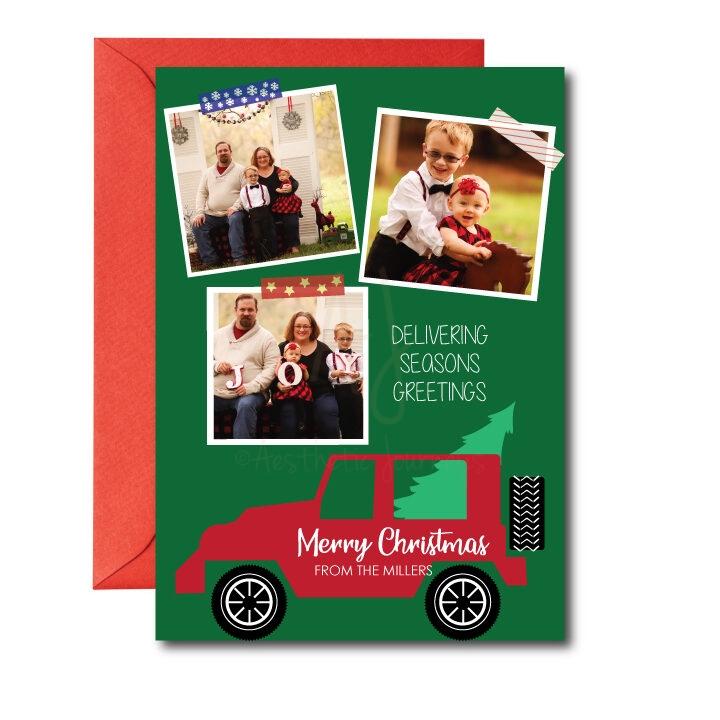 delivering.seasons.greetings.photo.card