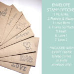 Die Cut Magnet Save the Date | Rustic, Heart Save the Date with Envelopes Included
