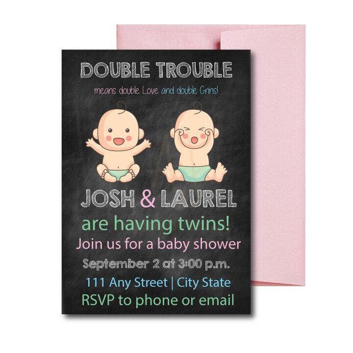 double trouble invite for twins