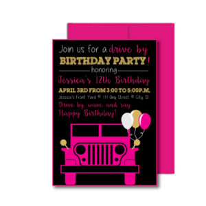 Drive By Party Invite