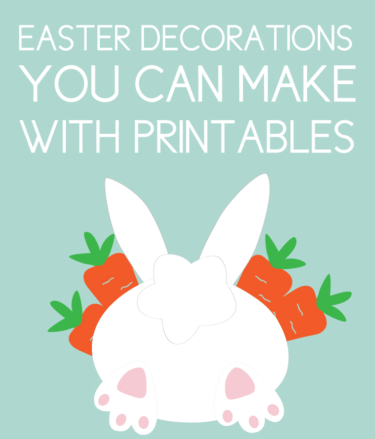 easter decor with printables