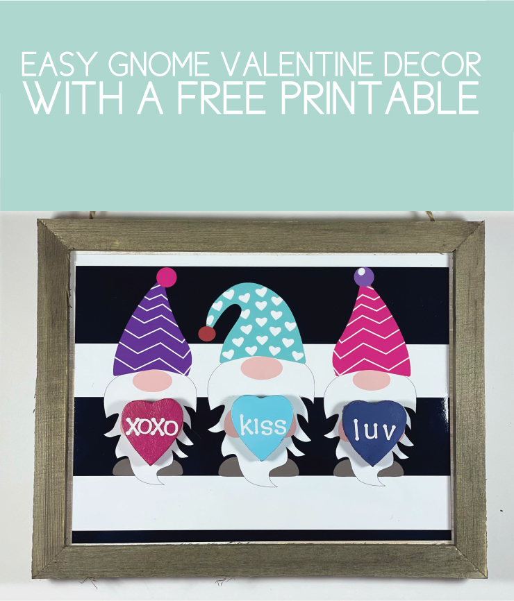 easy gnome valentine decor