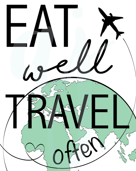 Eat Well and Travel Often Quote