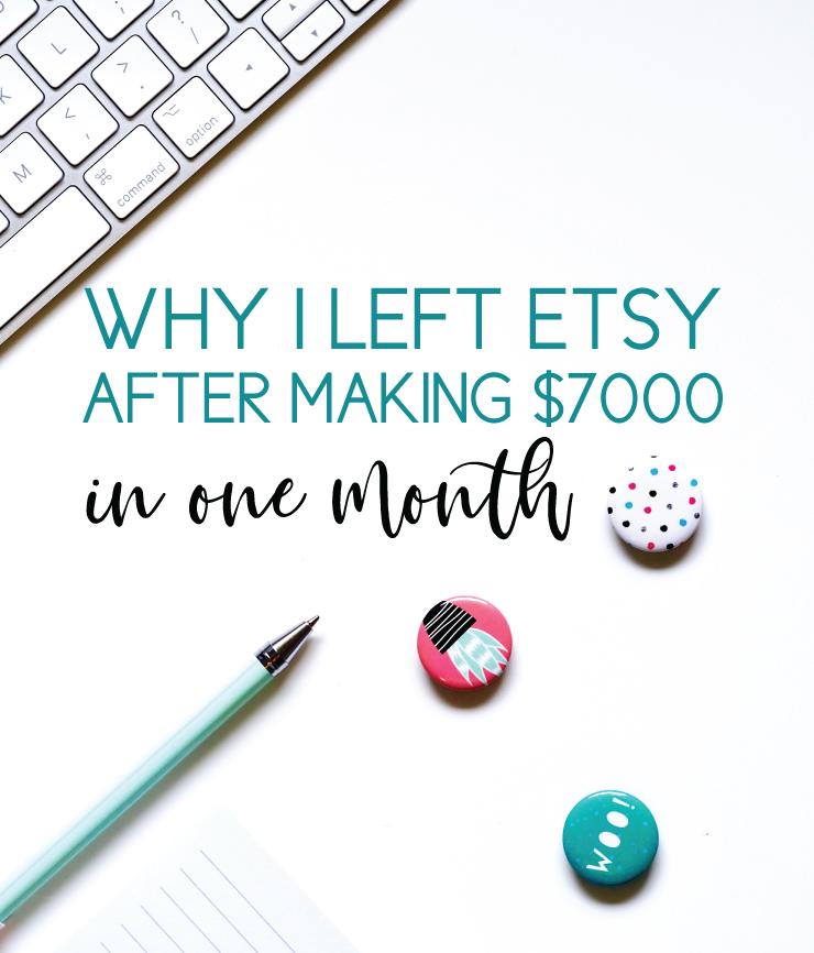 why i left etsy