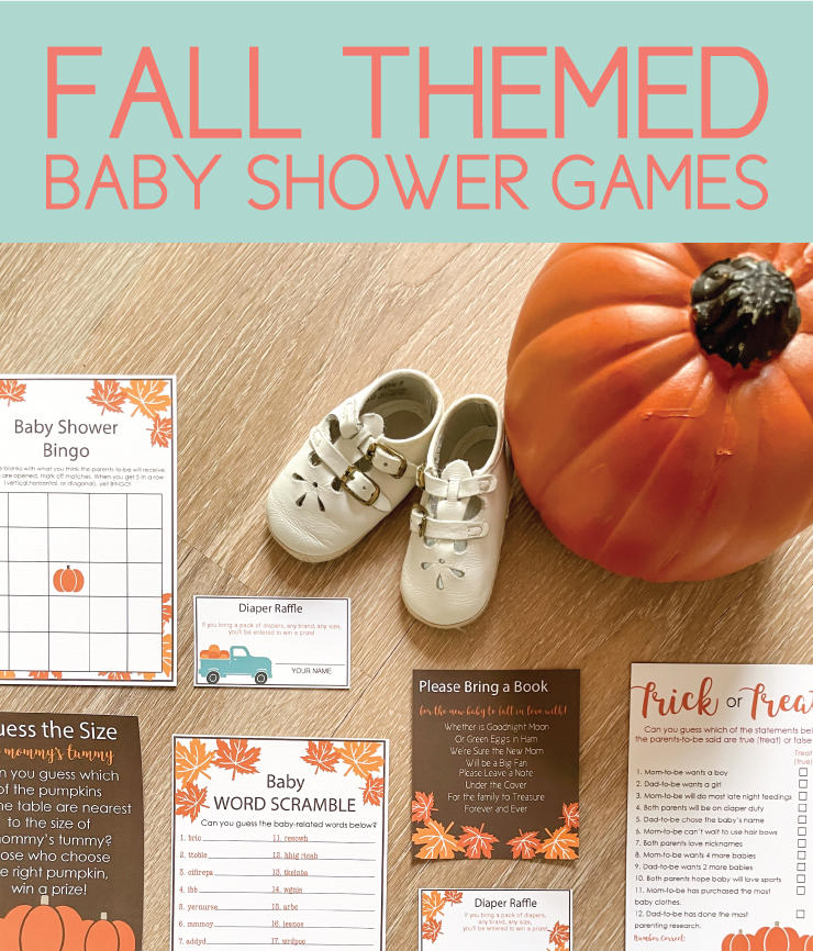fall themed baby shower games