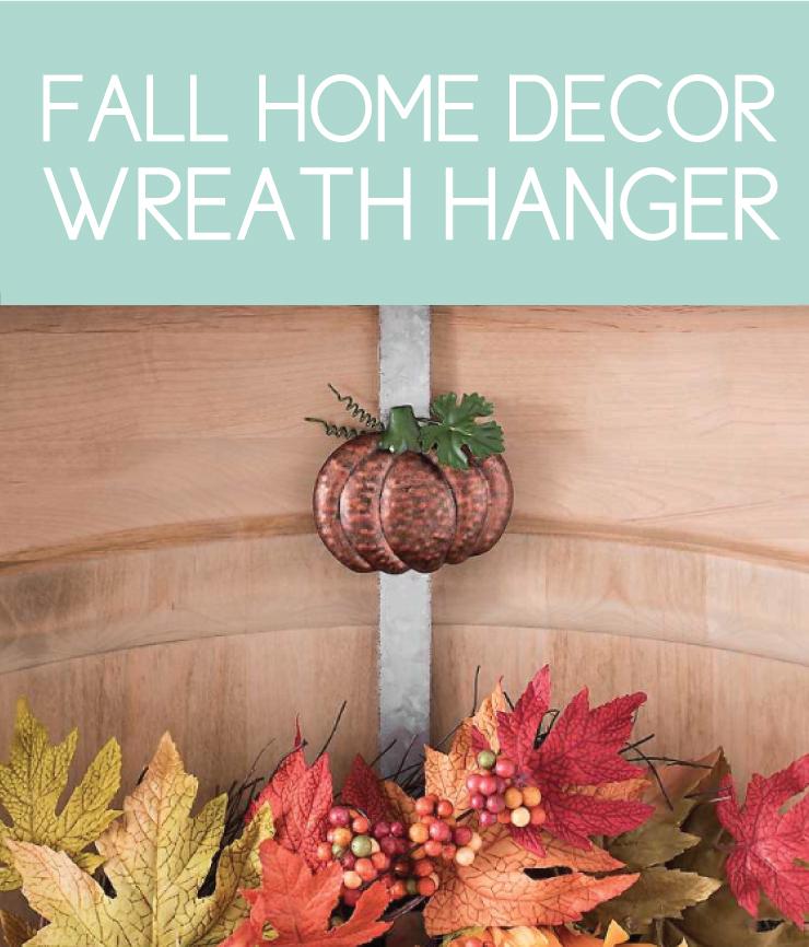fall door hanger with pumpkin
