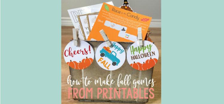 printable games for fall