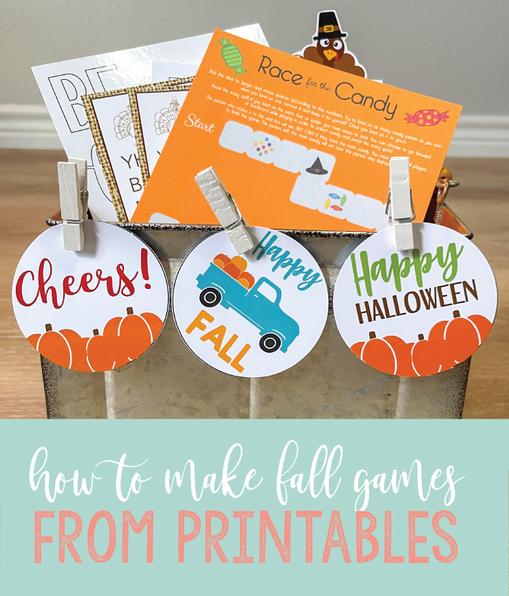 fall games made from printables