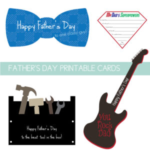 father's day card set