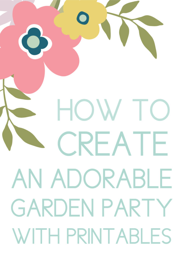 spring baby shower with printables