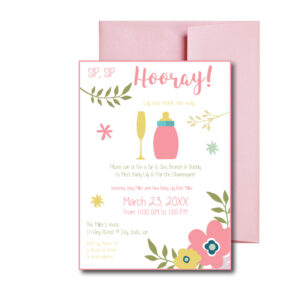 floral sip and see invite