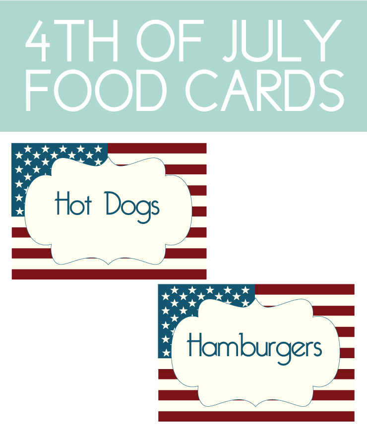 How to make food cards from printables