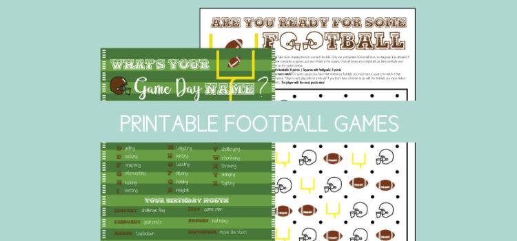 printable football themed games