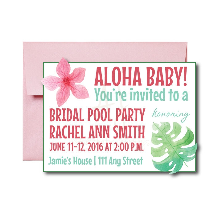Hawaiian Bridal Shower Invite