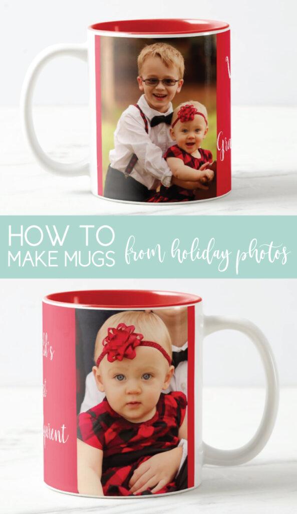 holiday mugs with photos