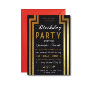 Hollywood Party Invite