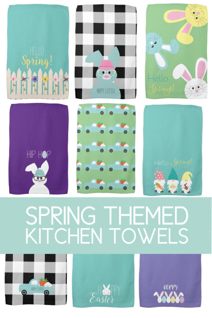 kitchen towels for spring