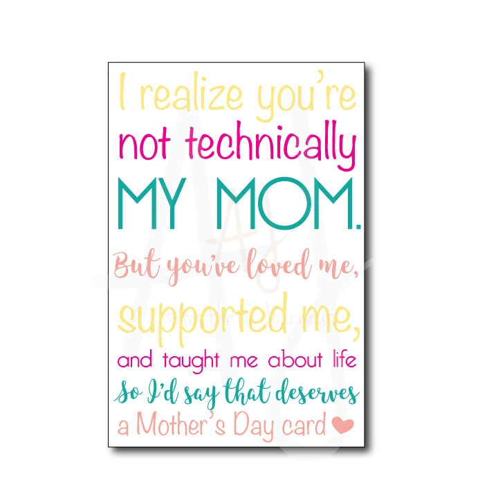'Like a Mom' Mother's Day Card