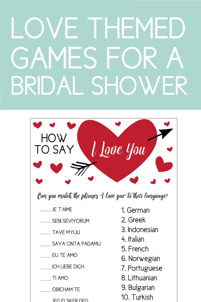 the perfect couples shower games