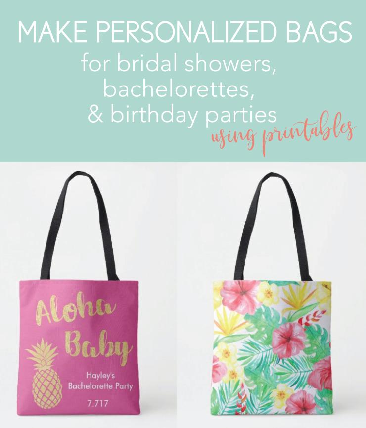 fun bags for a luau