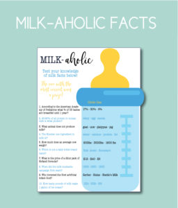 Milk-aholic Baby Shower Game