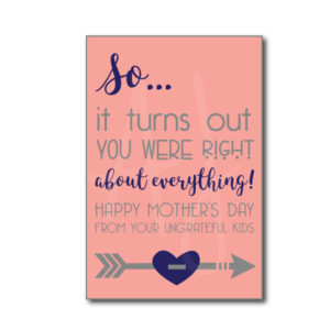 mother's day card from the kids
