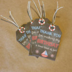 Nautical Themed Tags with Twine | Set of 25 Tags with or Without Personalization | Birthday Party Thank You Tags