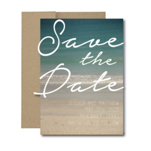 Ocean Themed Save the Date
