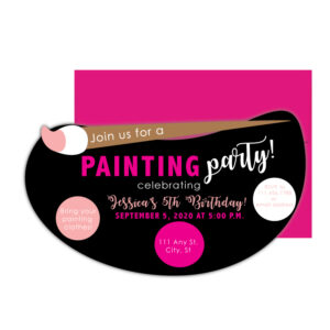 Painting Party Invite