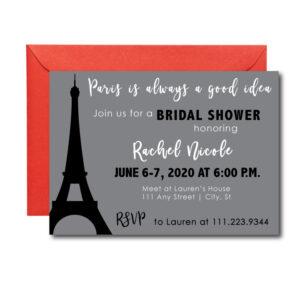 Paris themed party invite