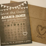 Rustic Burlap and Bunting Photo Magnet Save the Date | Save the Date Magnet or Card with Envelopes Included | Set of 5 Save the Dates