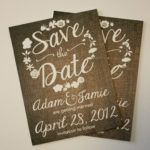 Floral Burlap Save the Date