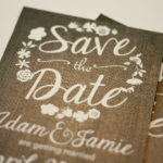 Rustic Burlap and Floral Magnet Save the Date   Save the Date Magnet or Card with Envelopes Included   Set of 5 Save the Dates