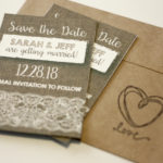 Rustic Burlap and Lace Magnet Save the Date | Save the Date Magnet or Card with Envelopes Included | Set of 5 Save the Dates