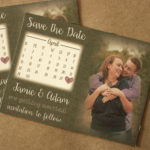 Burlap Calendar Save the Date