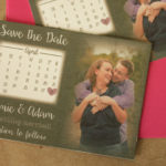 Rustic Burlap, Photo Magnet Save the Date | Save the Date Magnet or Card with Envelopes Included | Set of 5 Save the Dates