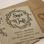 Rustic, Floral Magnet Save the Date | Save the Date Magnet or Card with Envelopes Included | Set of 5 Save the Dates