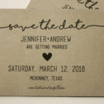 Rustic Magnet or Card Save the Date | Save the Date Printed | Envelopes Included | Set of 5 Save the Date Magnets or Printed Cards