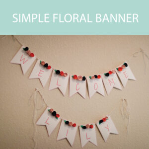 simple floral banner