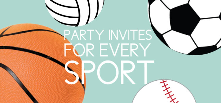 party invites for all sports
