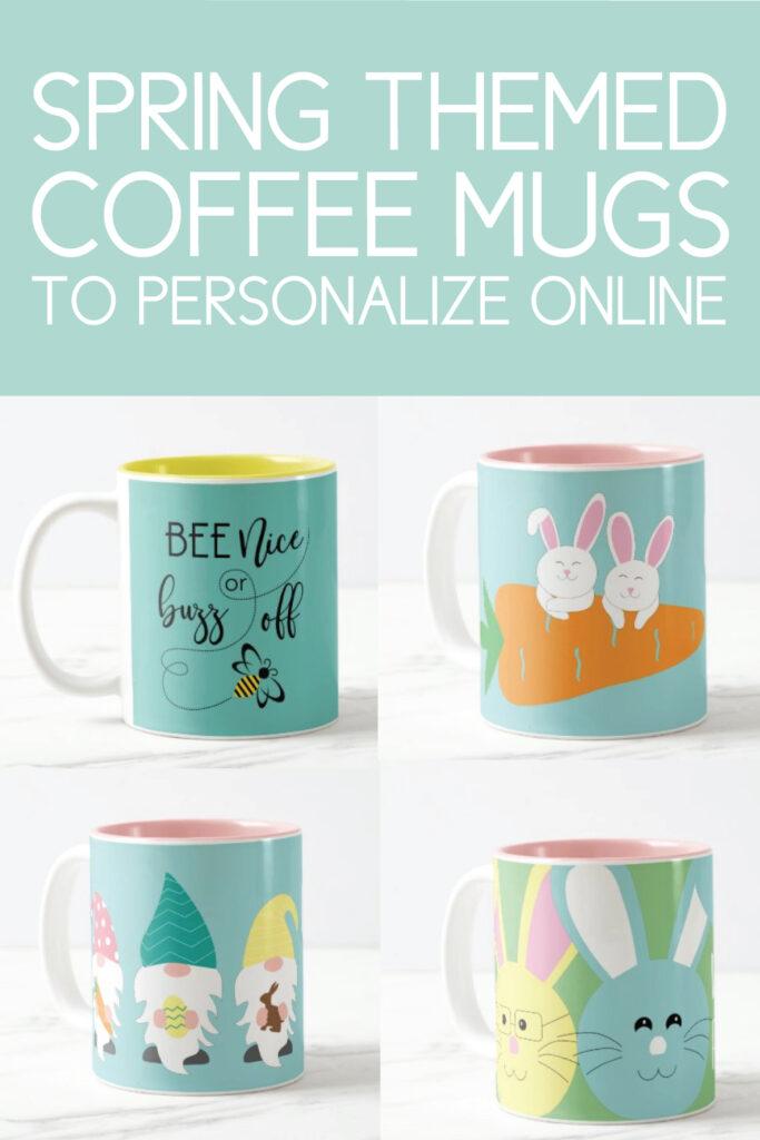 spring themed coffee mugs
