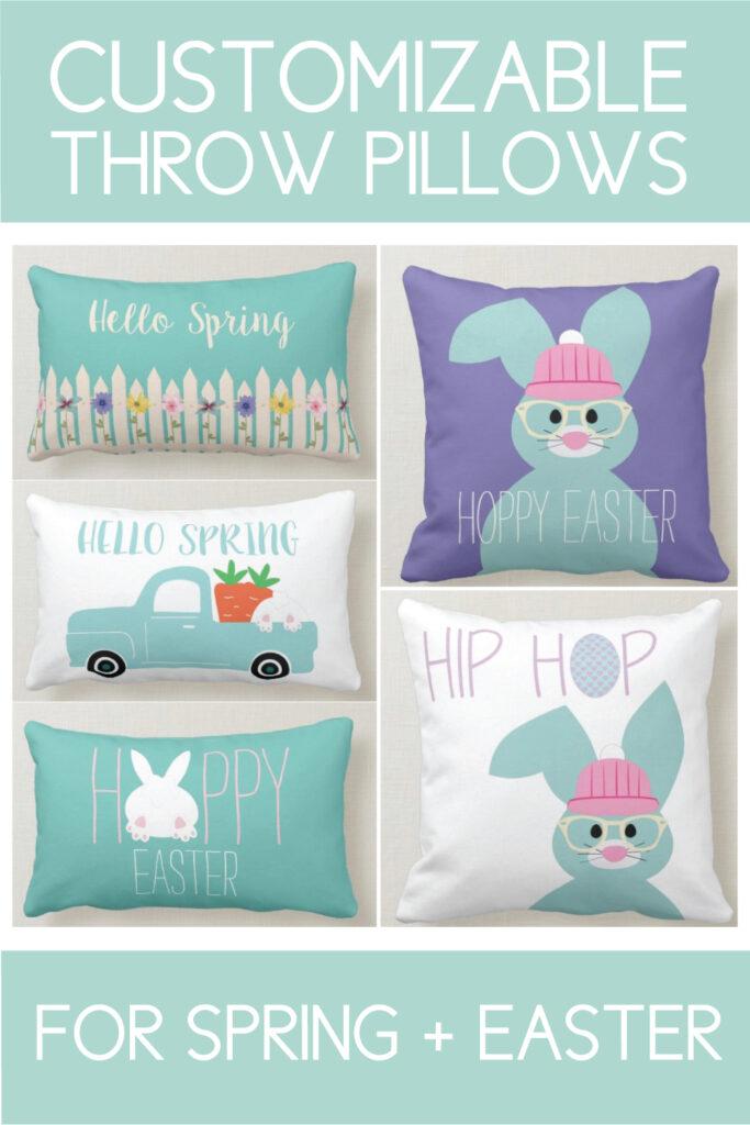 Throw pillows for spring