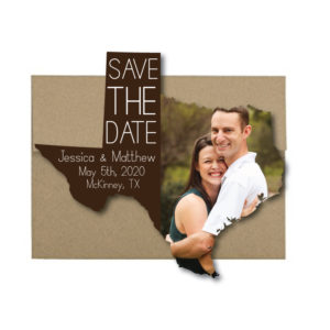 fun state-shaped save the date